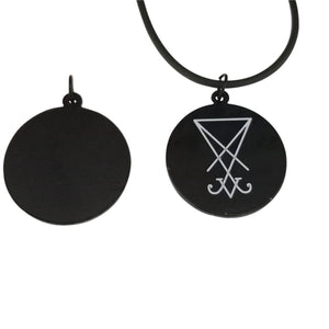 Sigil of lucifer necklace