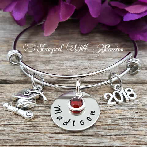 Graduation Bracelet Personalized