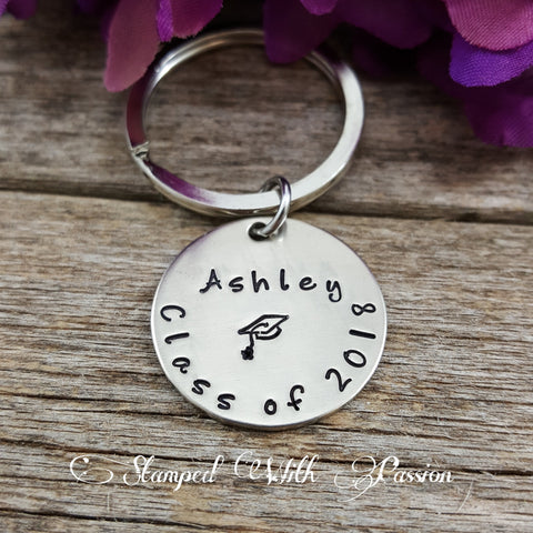 Graduation Key chain Personalized