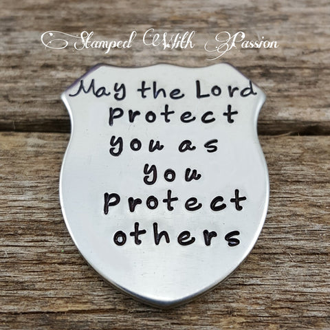 May the lord protect you challenge coin police officer