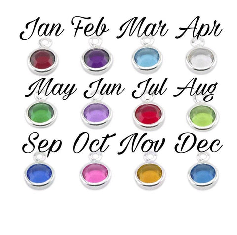 Add on birthstone charm -  6mm