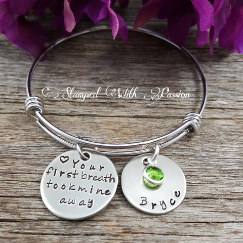 New Mom jewelry, Baby charm bracelet
