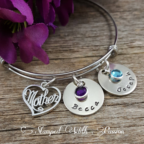 Mother bangle bracelet