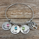Mom Family Tree Bracelet