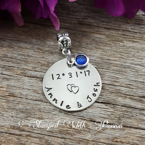 Something Blue -Personalized Bridal Bouquet Charm