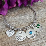 Proud Mom Name Bracelet