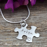 Puzzle piece necklace set