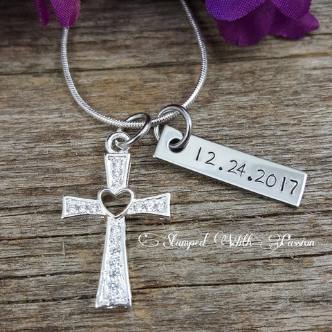Woman's  Cross Necklace - Girls Confirmation Gift