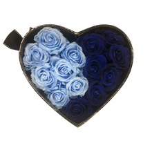 Load image into Gallery viewer, Black Heartfully Blue