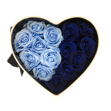 Load image into Gallery viewer, White Heartfully Blue