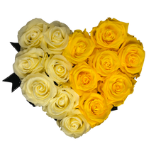 Load image into Gallery viewer, Black Heartfully Yellow