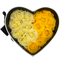 Load image into Gallery viewer, White Heartfully Yellow