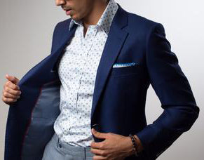 FIVE reasons why you need this water/stain resistant, wrinkle-free Custom Suit
