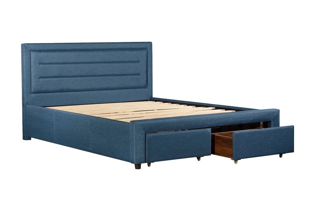 Eleanor Bedframe Queen size Light Blue