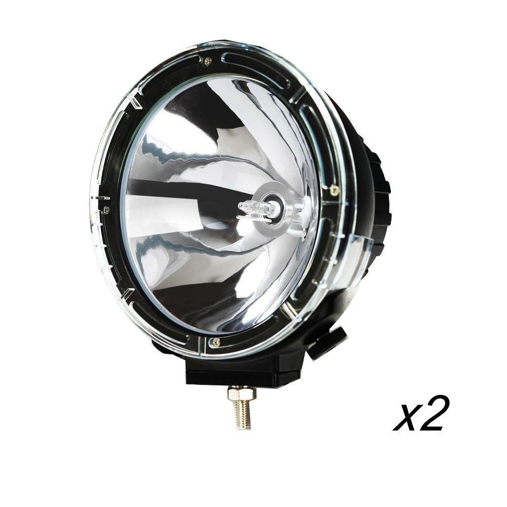2X 9Inch 100W HID Driving Lights XENON Spotlights Offroad 4WD Ford Work Light