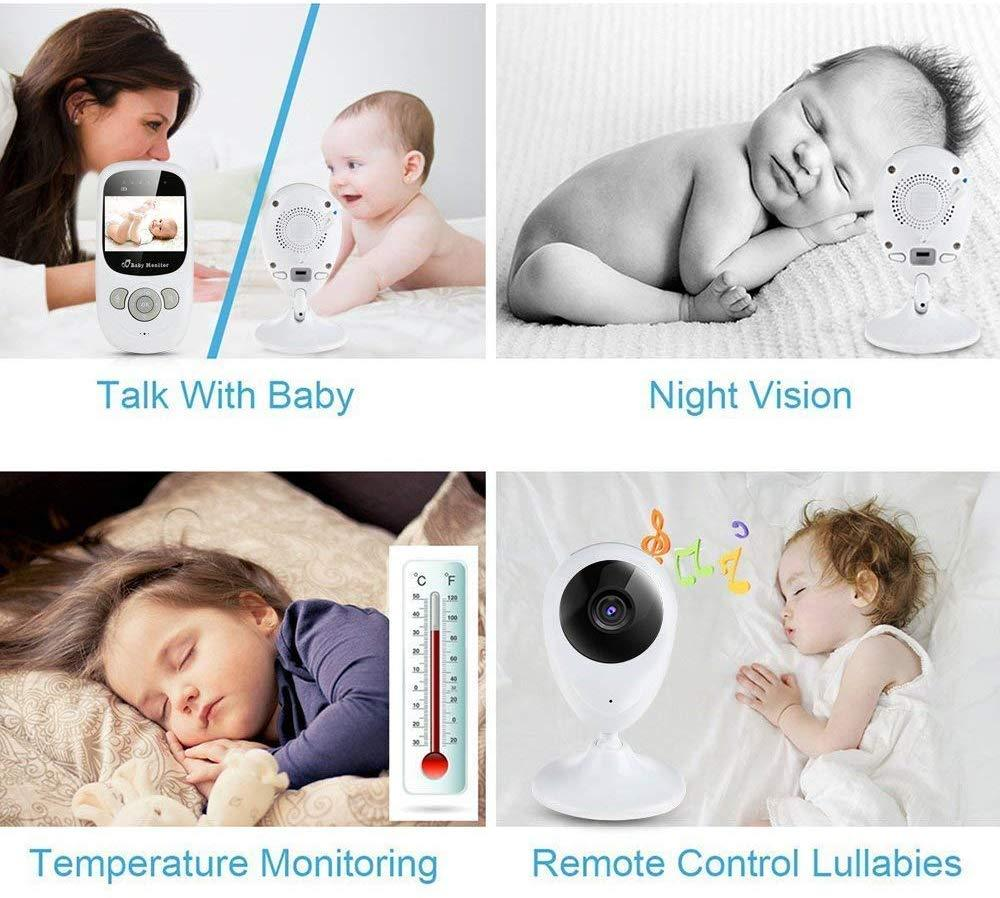 "Digital Wireless Baby Monitor with 2.4"" LCD Display,Two-Way Audio,Night Vision, Temperature Sensor,Lullabies (2.4"" LCD Video Baby Monitor)"