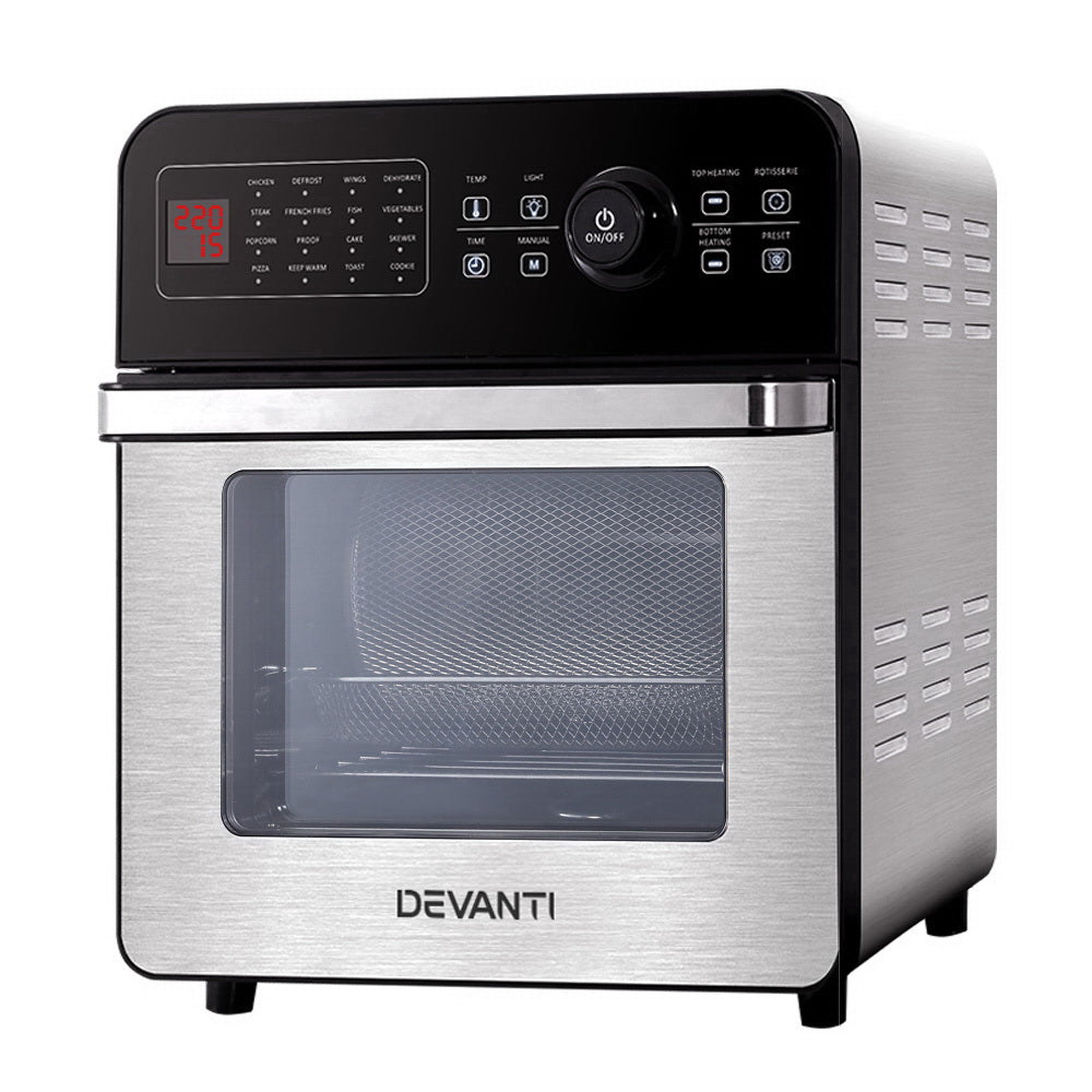 Devanti Air Fryer 18L Fryers Oil Free Oven Airfryer Kitchen Cooker Accessories
