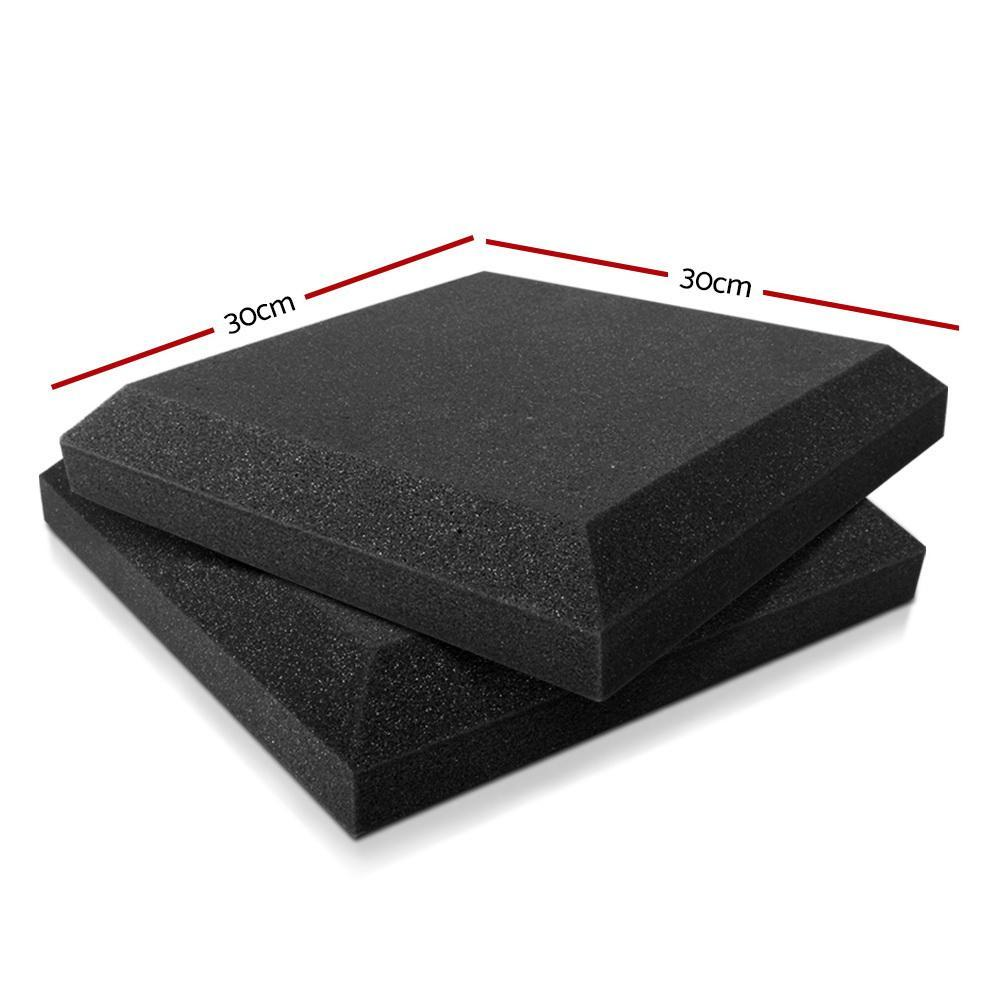 Set of 40 Flat Ceiling Acoustic Foam - Black