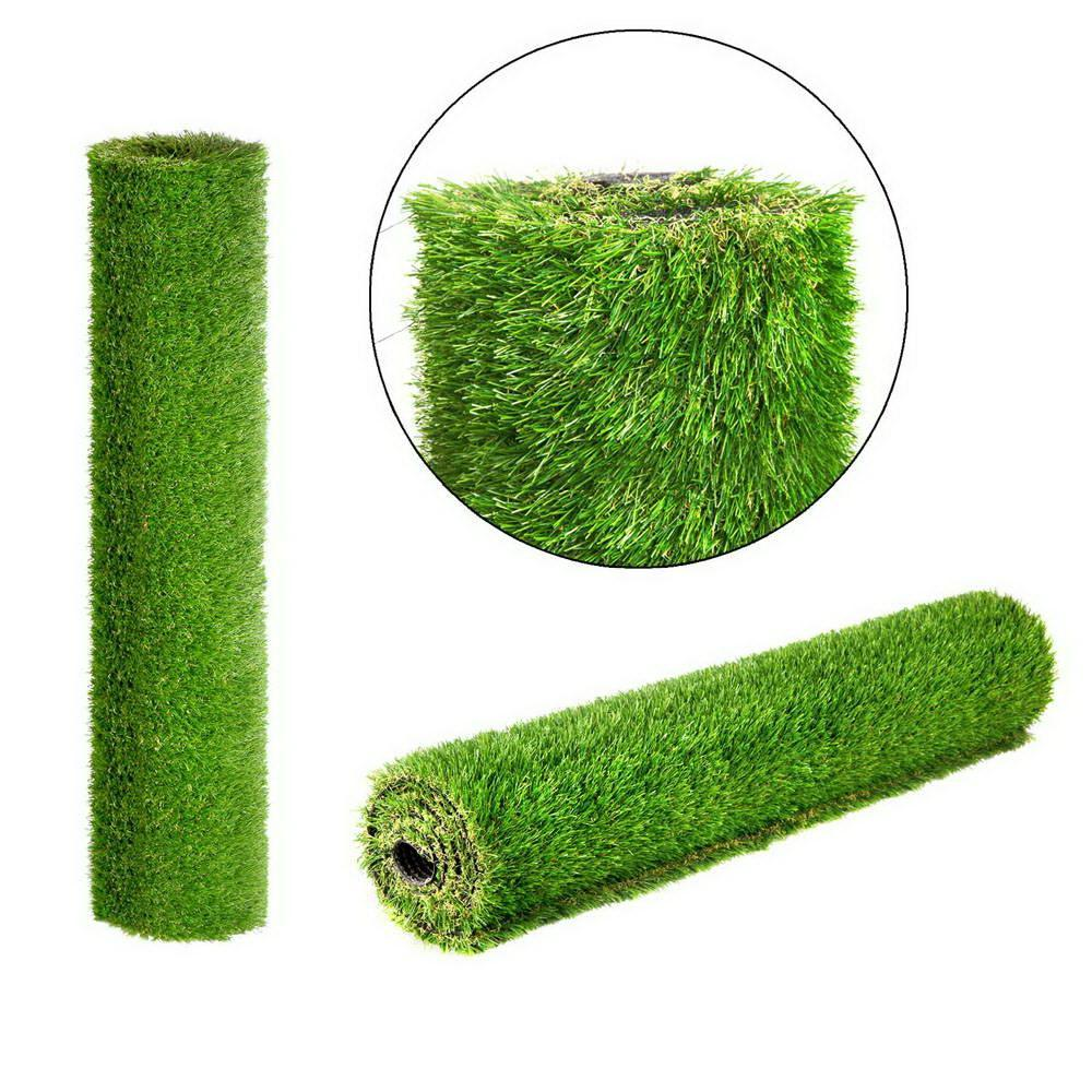 Primeturf Synthetic 30mm  1.9mx5m 9.5sqm Artificial Grass Fake Turf 4-coloured Plants Plastic Lawn