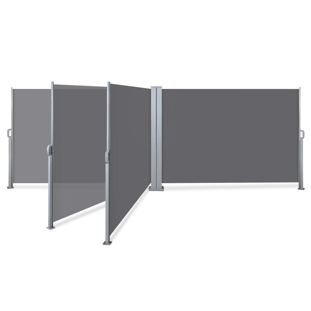 Instahut 1.8X6M Retractable Side Awning Garden Patio Shade Screen Panel Grey
