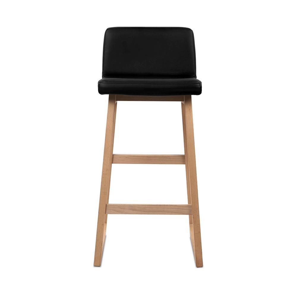 Artiss Set of 2 Bolero Bar Stools - Black