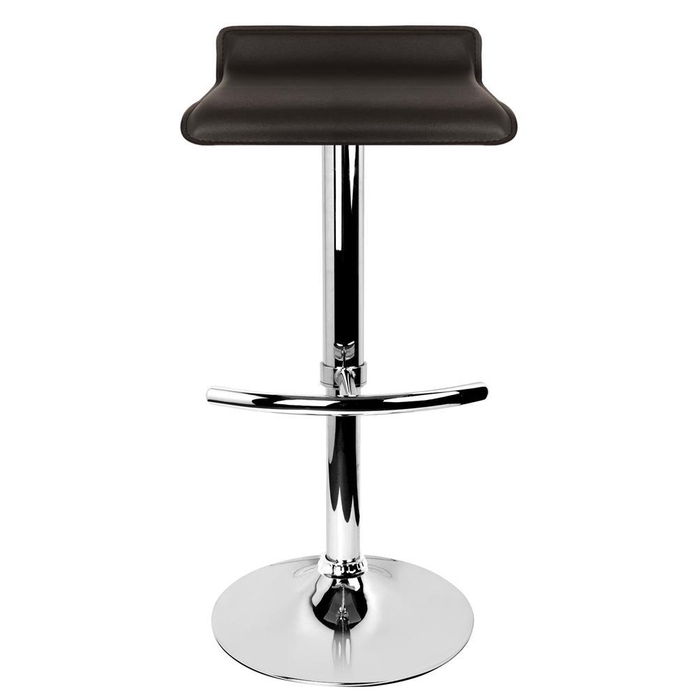 Artiss Set of 2 PU Leather Bar Stools - Chocolate