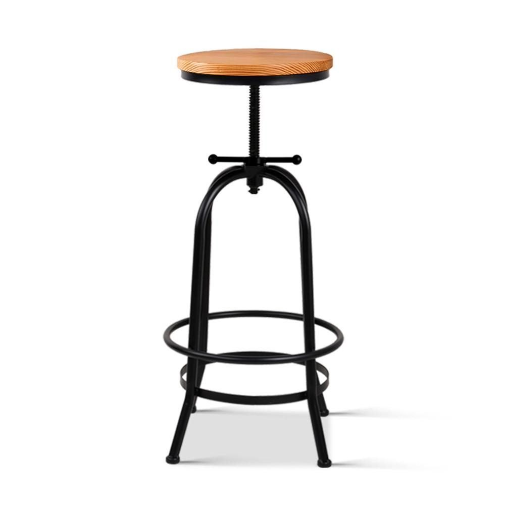 Vintage Bar Stool Retro Barstools Industrial Kitchen Counter Dining Chair