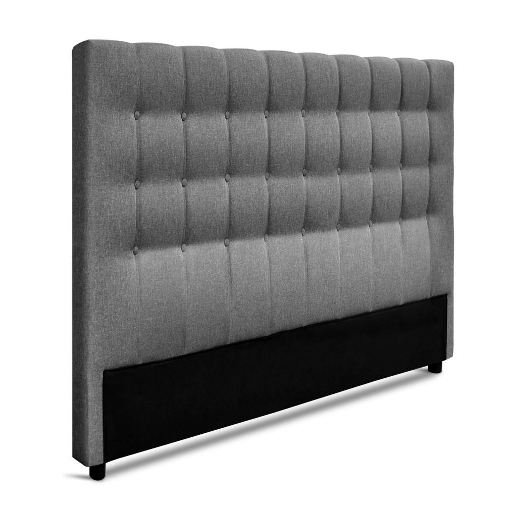 Artiss King Size Upholstered Fabric Headboard - Grey
