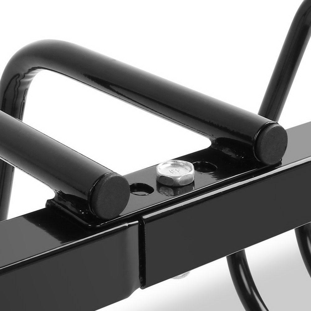 Portable Bike 3 Parking Rack Bicycle Instant Storage Stand - Black