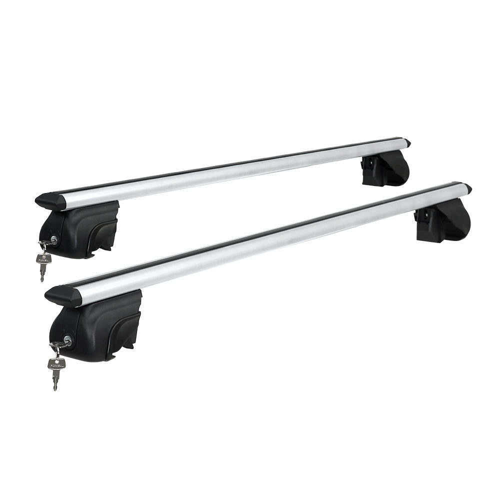 Universal Car Roof Rack 1390mm Upgraded Holder Cross Bars  Aluminium Silver Adjustable Car 90kgs load Carrier