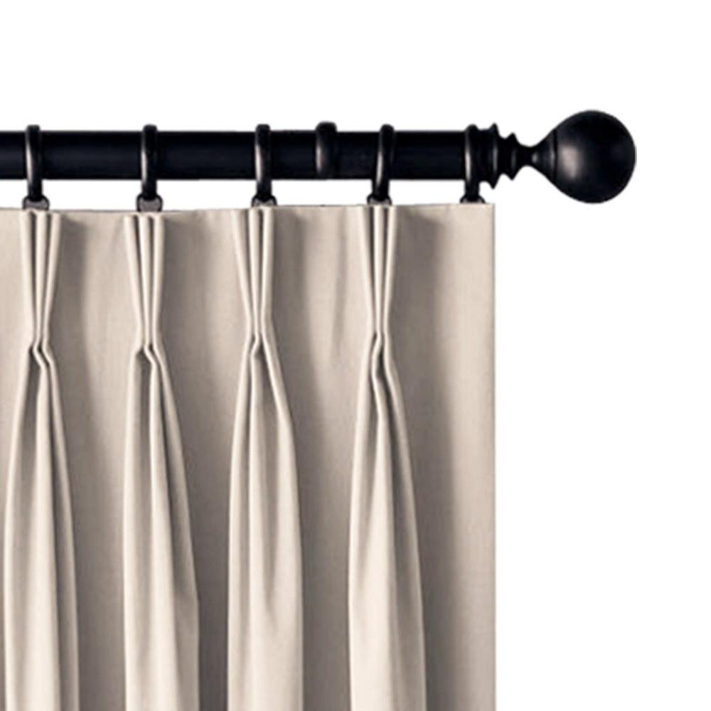 Artqueen 2X Pinch Pleat Pleated Blockout Curtains Sand 140cmx230cm