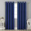 Art Queen 2 Panel 180 x 213cm Block Out Curtains - Navy
