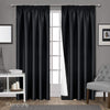 Art Queen 2 Pencil Pleat 140x213cm Blockout Curtains - Black