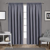Art Queen 2 Pencil Pleat 140x230cm Blockout Curtains - Dark Grey