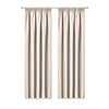Art Queen 2 Pencil Pleat 140x230cm Blockout Curtains - Sand