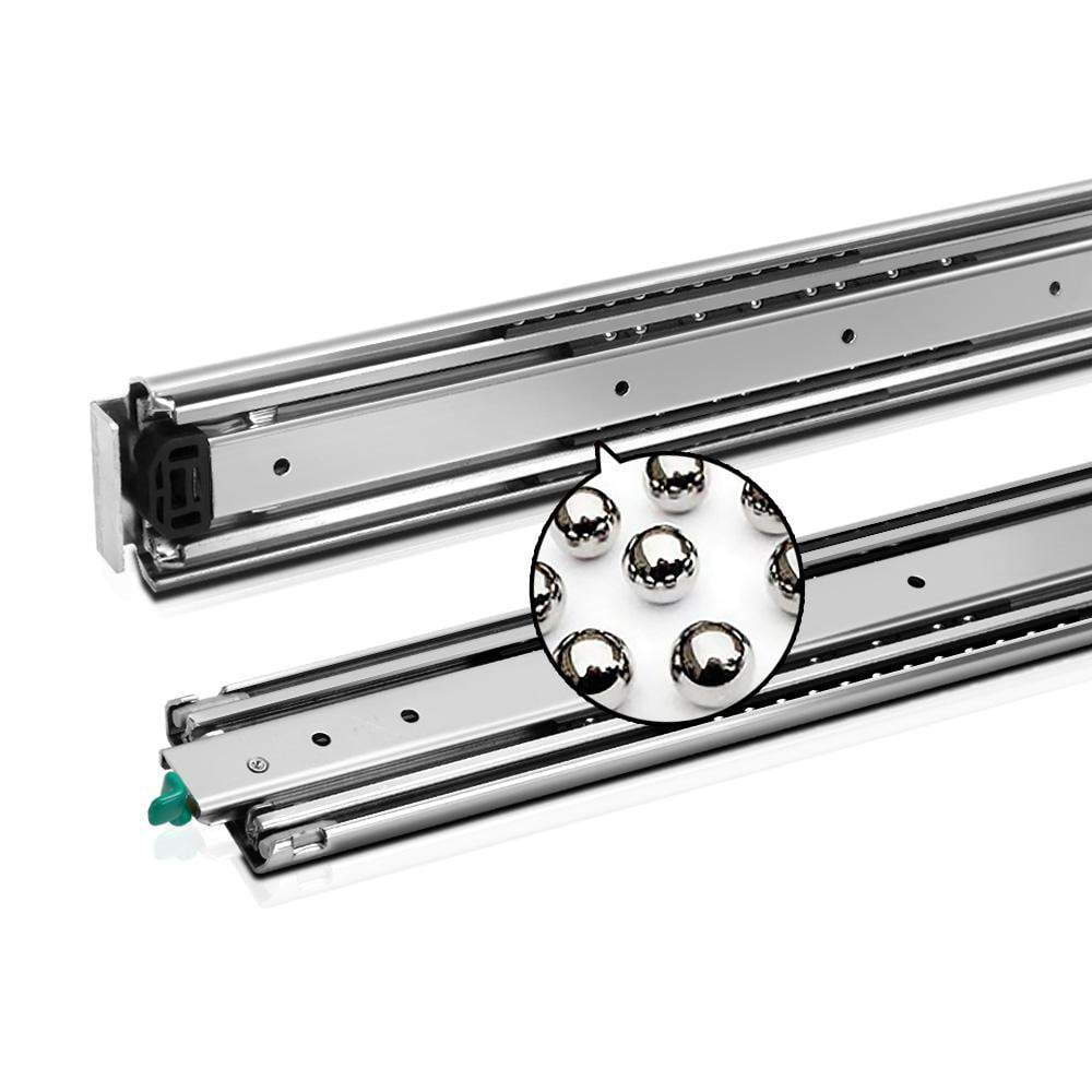 Cefito Heavy Duty 125KG Locking Drawer Slides Full Extension Ball Bearing 660mm