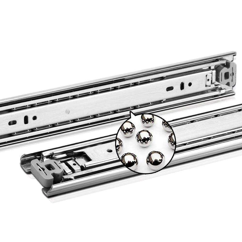 Cefito Heavy Duty 68KG Locking Drawer Slides Full Extension Ball Bearing 550mm