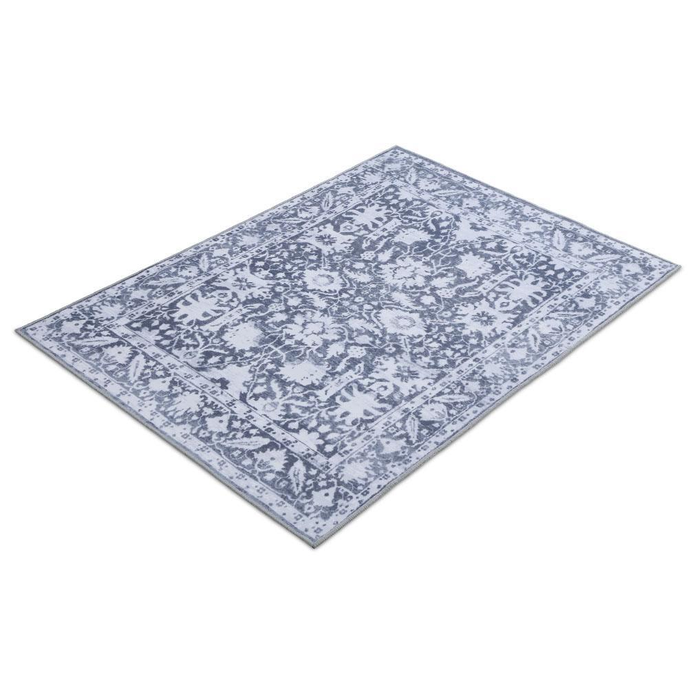 Artiss Floor Rugs Large 120x170 Area Rug Vintage Carpet Mat Soft Blue Bedroom