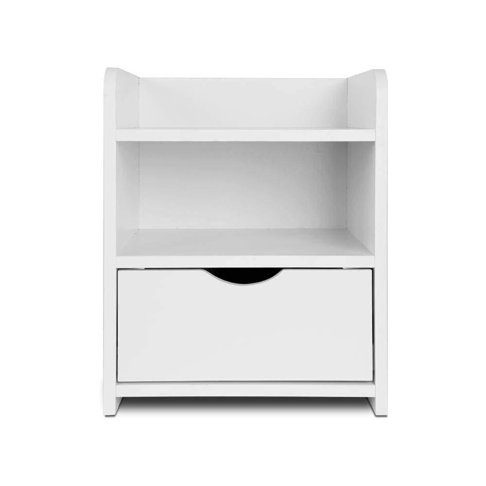Artiss Bedside Table Drawer - White