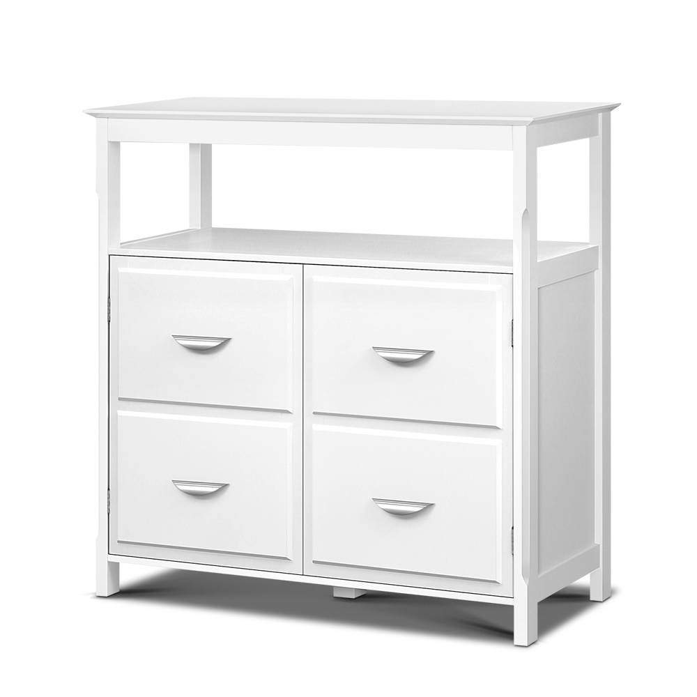 Artiss Kitchen Storage Buffet with Shelves - White