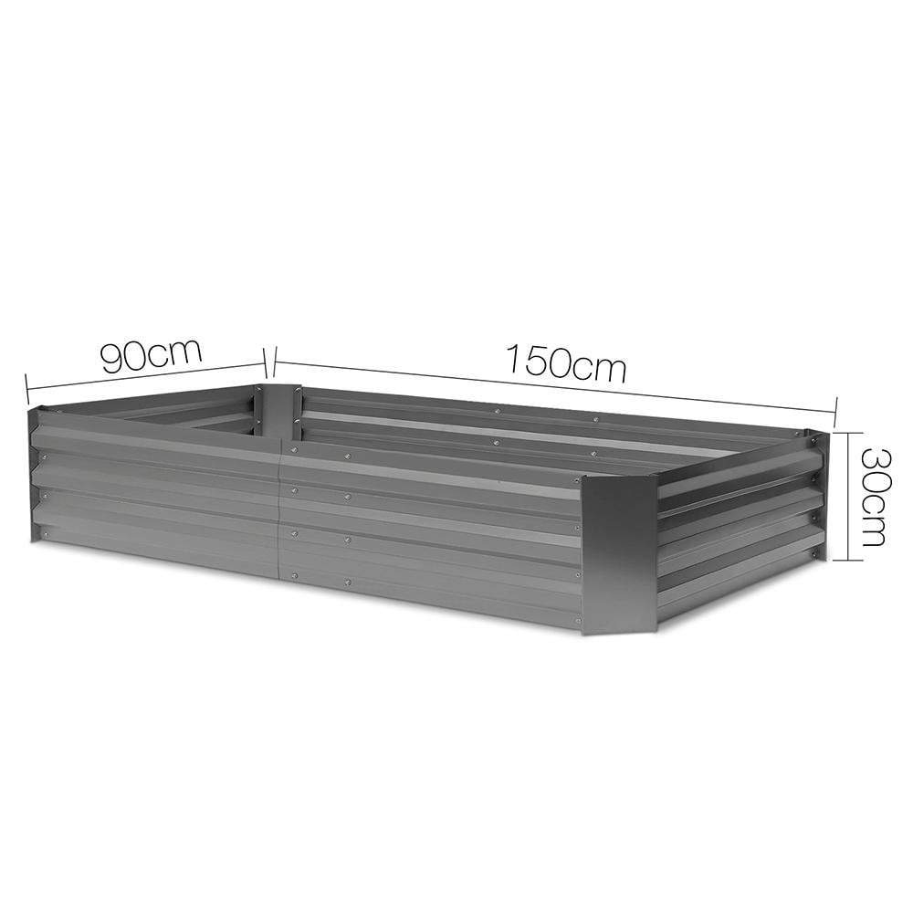 Greenfingers Garden Bed 2PCS 150X90X30CM Galvanised Steel Raised Planter