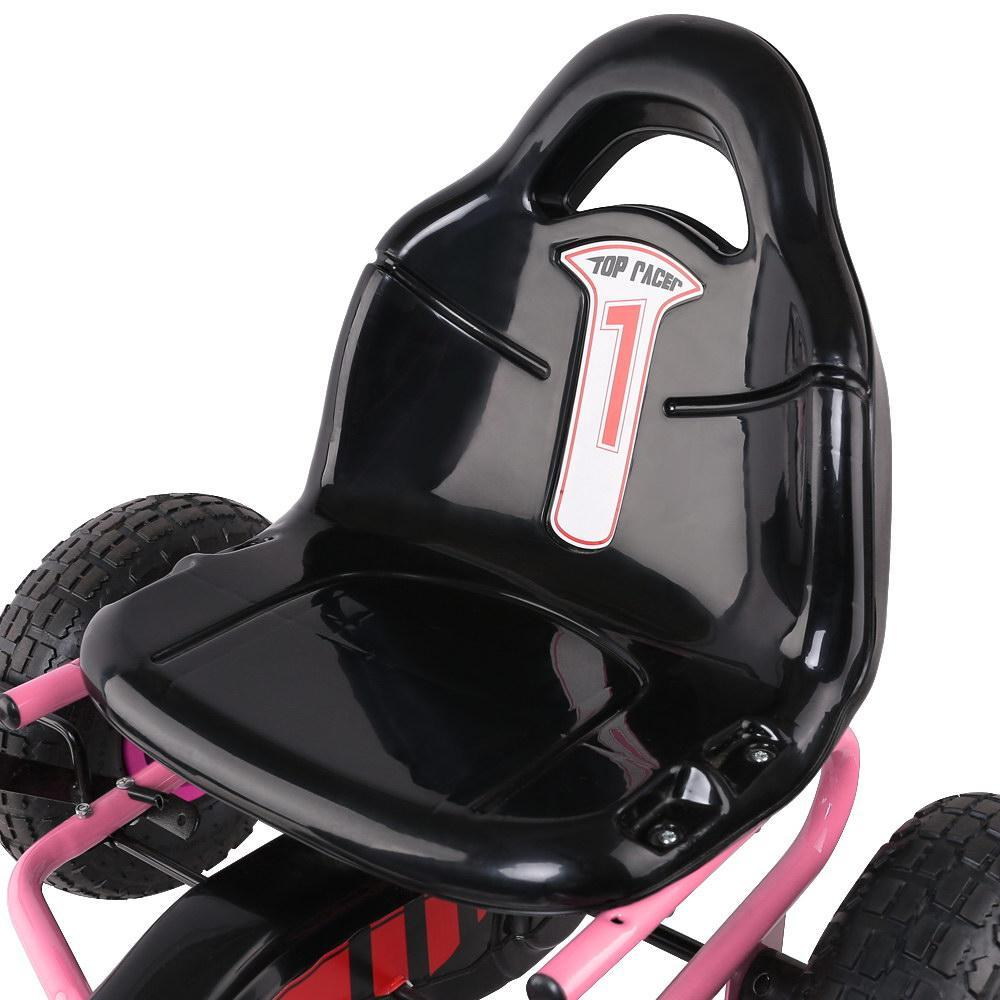 Rigo Kids Pedal Go Kart Car Ride On Toys Racing Bike Rubber Tyre Adjustable Seat