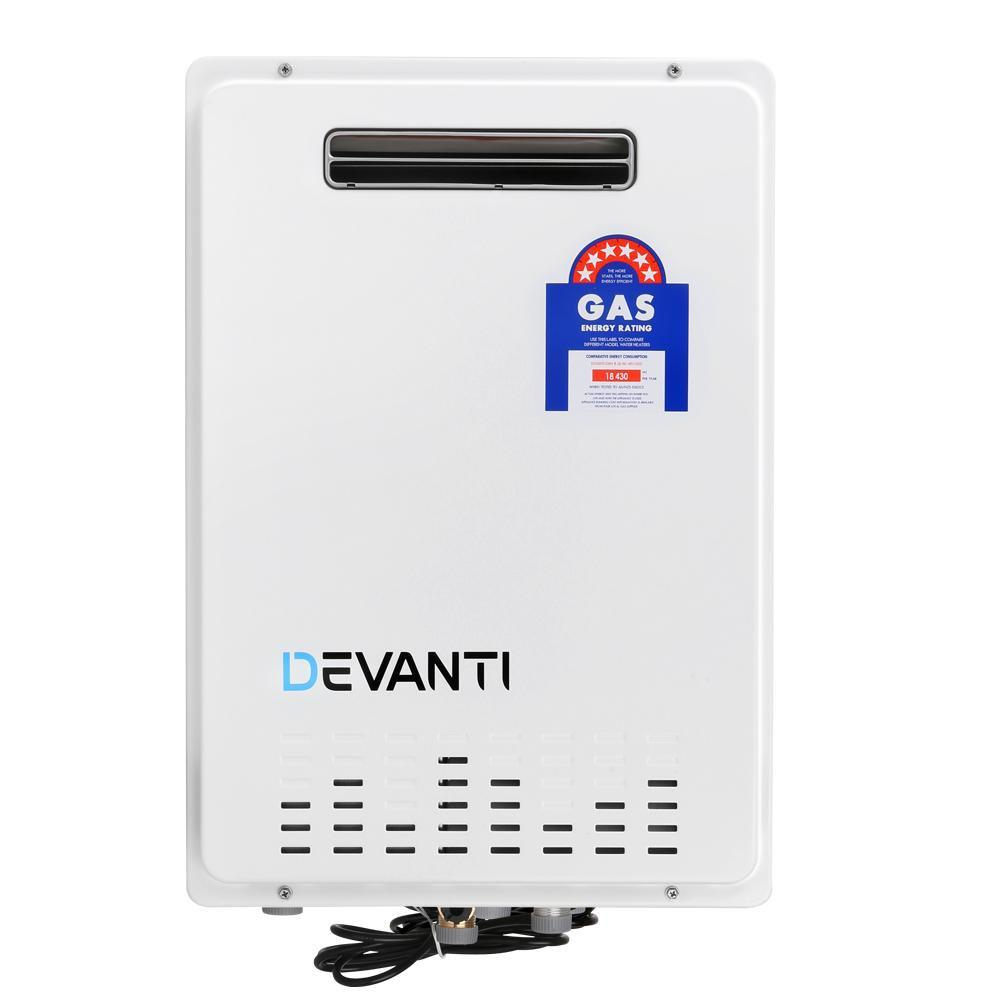 DEVANTI Gas Water Heater NG Natural Gas 30L White
