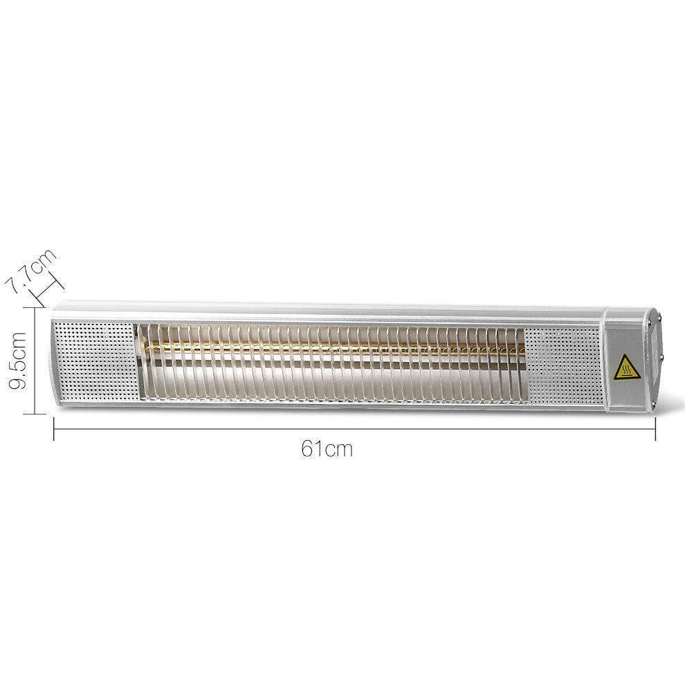 Devanti 2400W Electrocal Infrared Strip Patio Heater