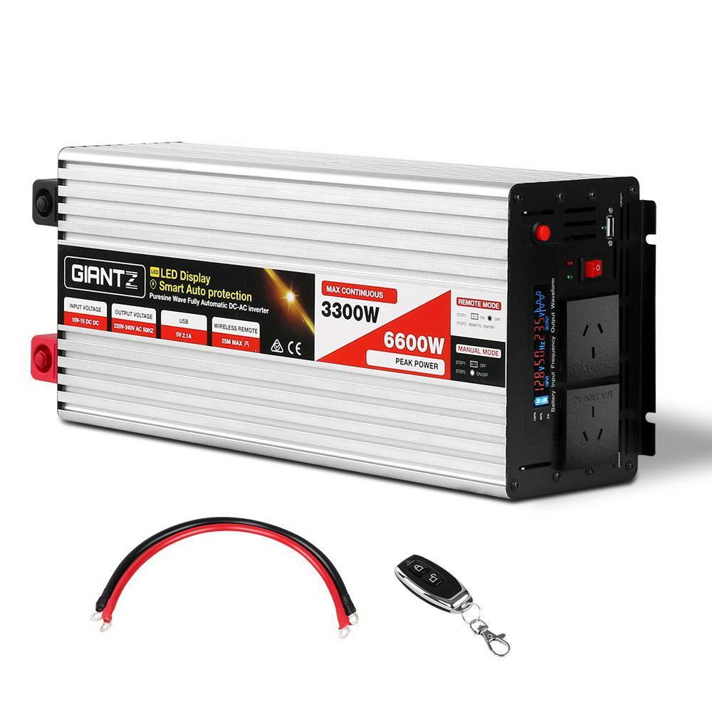 Giantz 3300W Puresine Wave DC-AC Power Inverter