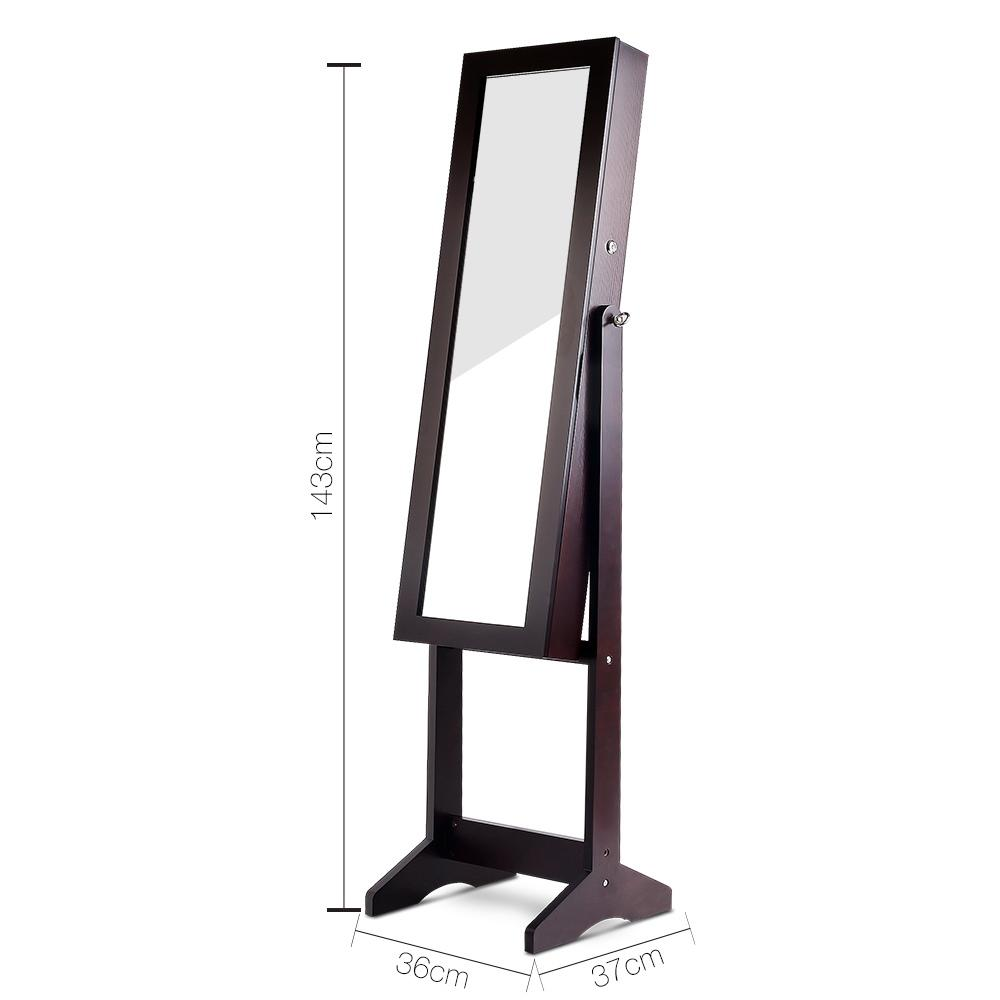 110cm Mirror with Cabinet - Walnut