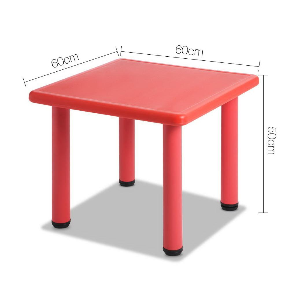 Keezi Kids Table Study Desk Children Furniture Plastic Red