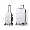 Wanderlite 2 Piece Lightweight Hard Suit Case Luggage White