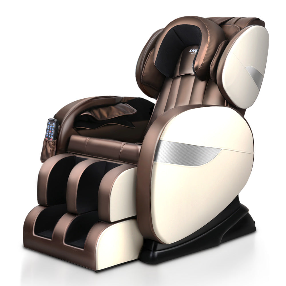 Livemor Electric Massage Chair 150W- Brown