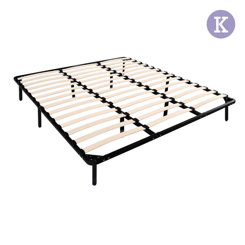 Artiss King Size Metal Bed Base - Black